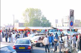 Markt bij winkelcentrum ganzenpoort