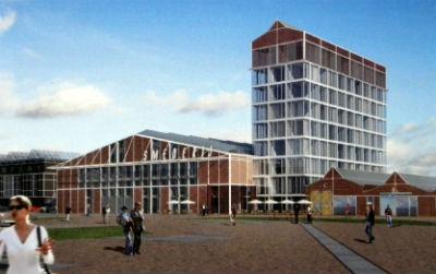 Plan voor Hotel en cultuurbedrijven in gerenoveerde Smederij op het NDSM-terrein