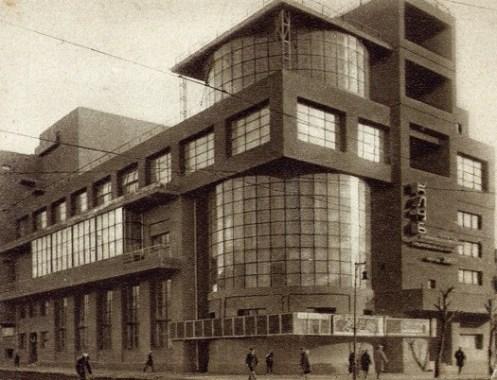 Zuov Club voor Arbeiders uit 1928 - van architect Ilja Golosov