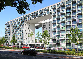 Gebouw Parkrand, MVRDV Architecten, bij Eendrachtpark