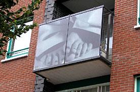 Kunst op balkon, Willem Oorebeek