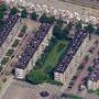 Open bebouwing, stroken haaks op de Burgemeester De Vlugtlaan, Slotermeer
